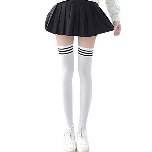 GREFER Women's Girls Socks New Fashion Thigh High Over Knee High Socks 1 Pair -