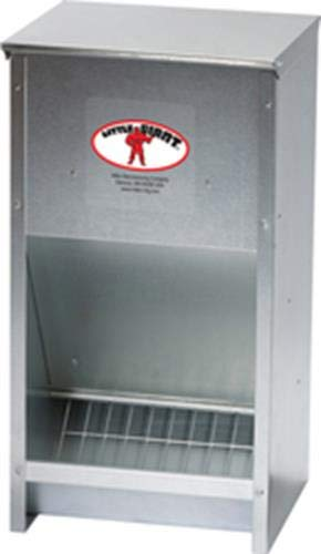 Miller 957772 Little Giant High Capacity Poultry Steel Feeder, 25 lb by Miller