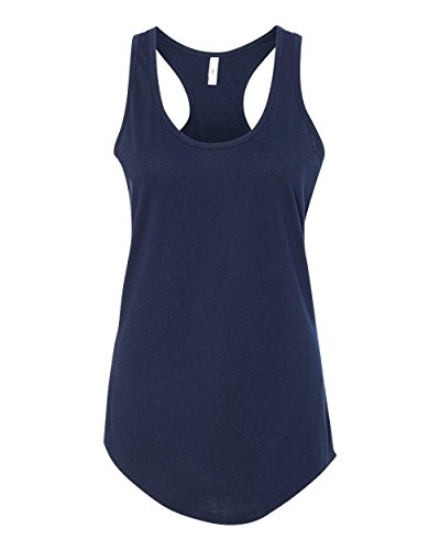 Next Level Apparel Women's Ideal Racerback Tank - X-Large - Midnight Navy (Racerback Jersey Top)