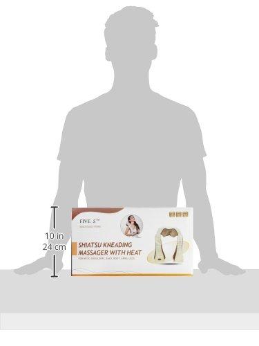 New-Five-Star-FS8801-Shiatsu-Neck-Back-Massager-with-Heat-Shoulder-Foot-Massager-Kneading-Massage-Pillow-With-Heat-Beige