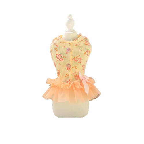 [Floral summer princess doggy lovely party dresses clothes (XL)] (Best College Halloween Outfits)