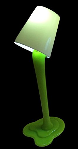 LED Lamp Pen Poured Paint Office Desktop Novelty (Lime Green) (Green Lime Lamp)