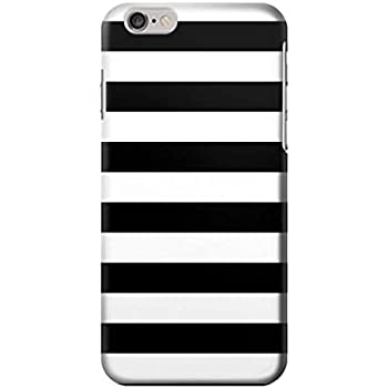 23bb3e0c854d9b R1596 Black and White Striped Case Cover For iPhone 6 Plus iPhone 6s Plus