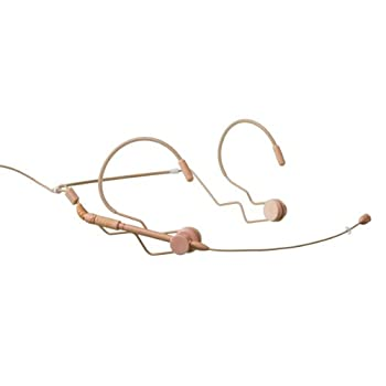 Image of Airwave Technologies HSD-SLIMLINE+DE S8 TAN Dual Ear Head-worn Microphone - Sennheiser Compatible. Detachable cable Multipurpose