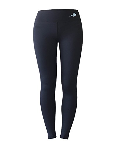 Women's Compression Pants (Black - L) Best Full Leggings Tights for Running, Yoga, Gym by CompressionZ