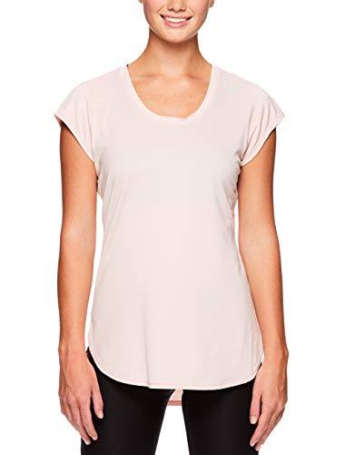 Reebok Women's Legend Performance Top Short Sleeve T-Shirt - Peach Skin, Small