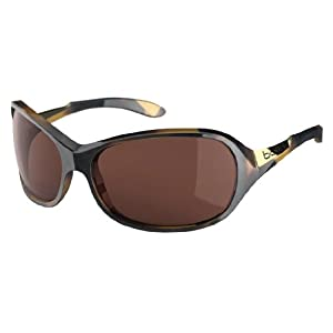 Bolle Women's Grace Sunglasses, Polarized A14 AF, Shiny Tortoise