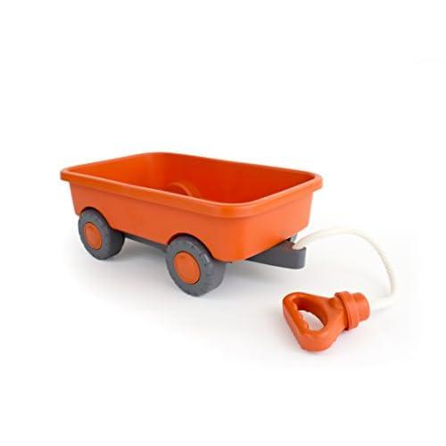 Green Toys Chariot orange à tirer
