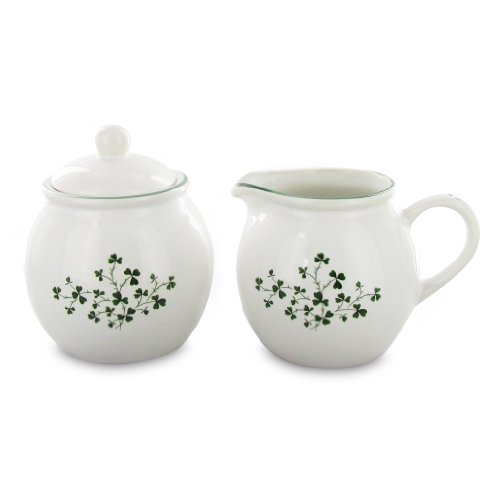 English Tea Store Shamrock Sugar & Creamer Set (Tea Shamrock Set)