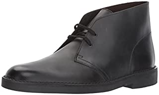 CLARKS Men's Bushacre 2 Chukka Boot, Black Waxy Leather, 10 Medium US (B01MYY64JM) | Amazon price tracker / tracking, Amazon price history charts, Amazon price watches, Amazon price drop alerts