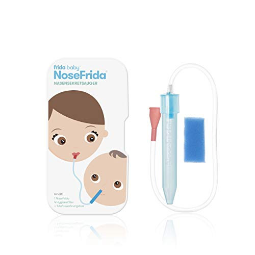 Nosefrida Rotho Babydesign Neuszuiger, vanaf 0 Maanden, 50×2.3×2.3 cm, Blauw/Wit