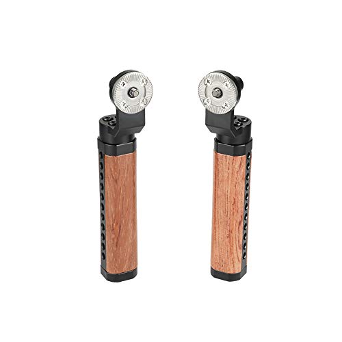 CAMVATE Rosette Wooden Handgrip for DSLR Shoulder Rig (One Pair)
