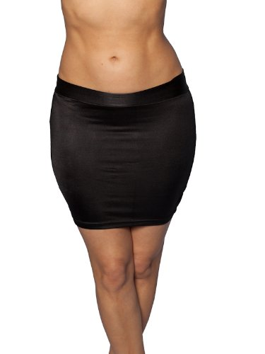 Plus Size Mini Skirt Black Lycra. Sexy Style! at Amazon Women's ...
