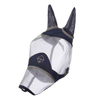 Le Mieux Armour Shield Protector Defender Fly Mask Full (Ears & Nose), X-Large, Navy by LeMieux