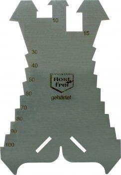 Triuso Anrei/ßschablone 140x100x1-3mm rostfrei Spengeler Klempner Flaschner Dachdecker