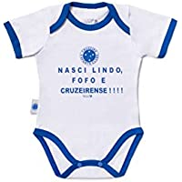 Rêve D'or Sport - Body Nasci Lindo Cruzeiro Unissex, P, Branco/Azul