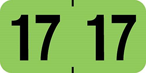 "UPC 711730483352, 2017 Year Labels, Medical Arts Press Compatible Series, Fl. Green / Black, 500/Roll, 2 Rolls, 3/4"" x 1-1/2"""