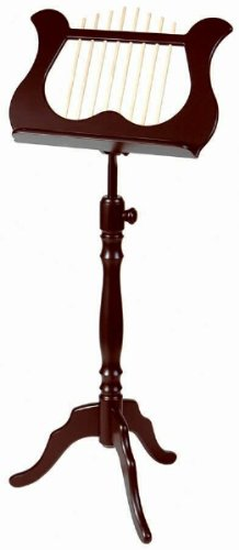 Stageline MS60MA Lyre-Style Music Stand - Mahogany