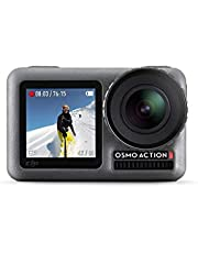 DJI Osmo Action - 4K Action Cam 12MP Digital Camera with 2 Displays 11 meters Underwater Waterproof WiFi HDR Video 145° Angle, Black