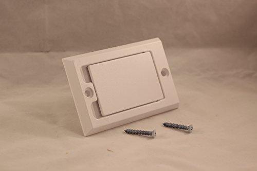 - Hayden Inlet Valve Plastic Square Door White #1700-01-791700W