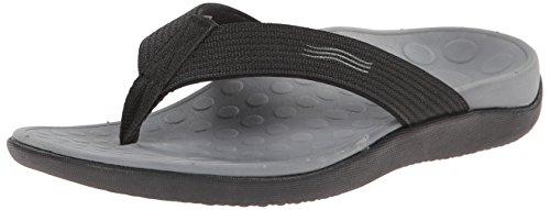 Sandalo unisex con punta a onda, 7 B (M), donna US / 6 D (M) uomo americano, (nero)