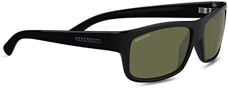 SERENGETI SUNGLASSES 7492 Martino Shiny Black Frame Green POLARIZED Lens O//S