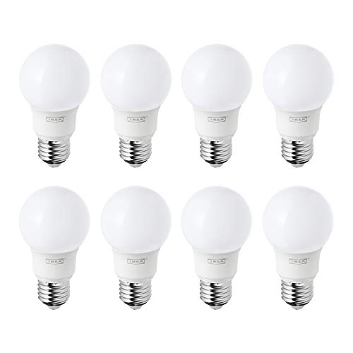 IKEA RYET E27/ES - Bombillas de globo LED de 400 lm, luz blanca cálida, juego de 8: Amazon.es: Iluminación