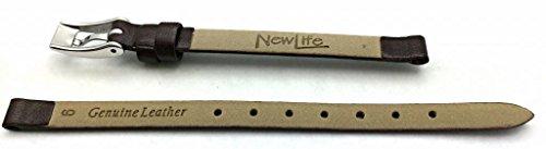 NewLife Brown Elegant Calf Leather, flat, 6mm