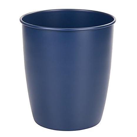 mDesign cestino spazzatura in metallo – Ideale come pattumiera differenziata o come contenitori rifiuti ufficio – Colore: blu navy matt MetroDecor