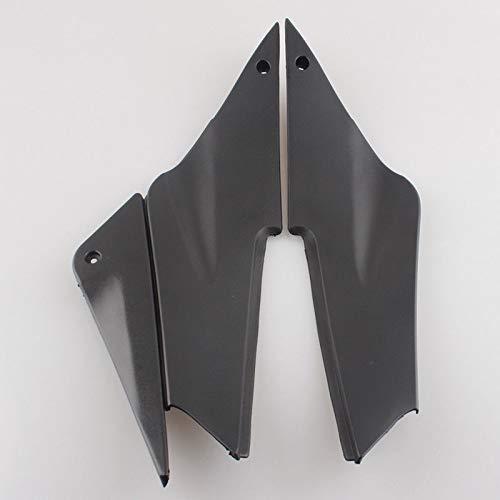 Unpainted Fairing Parts Black Gas Tank Side Cover Panels Trim Cowl Fairing For Kawasaki Ninja ZX6R ZX636 ZX6 2005-2006 6R 05 06