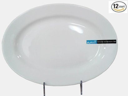 1 Dz Super White Porcelain Oval Platters 7.75
