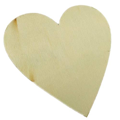 Four 8 inch Wood Hearts to paint or decorate