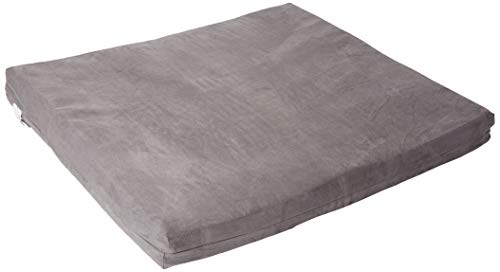 XL-Large Dog Bed-Orthopedic Memory Foam Bed-40 X 35 X 4 100 Made in USA-Best Luxury Large Breed Washable Pet Bed You Can Buy 4 LB Memory Foam-Puppy Bed Too-Memory-Foam-Large, Grey Charcoal