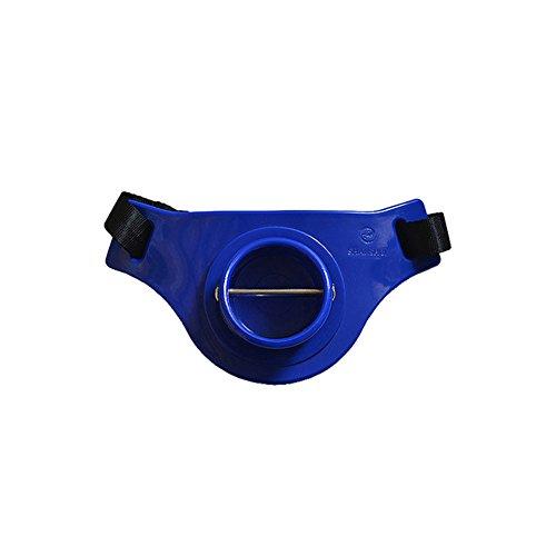 biz2world Professional Offshore Sea Fishing Fighting Game Jigging Gimbal Waist Belt Harness Pad Fish Rod Pole Holder Belt (Blue) ()