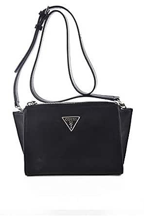 Guess Womens Cross-Body Handbag, Black - UE766469