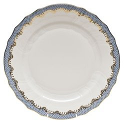 Herend Fish Scale Light Blue Dinner Plate