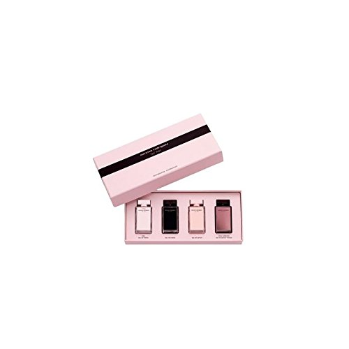 (Narciso Rodriguez for Her Miniatures Collection: L'eau Eau de Toilette .25 oz, Eau de Toilette .25 oz, Eau de Parfum .25 oz, L'absolu Eau de Parfum .25 oz )