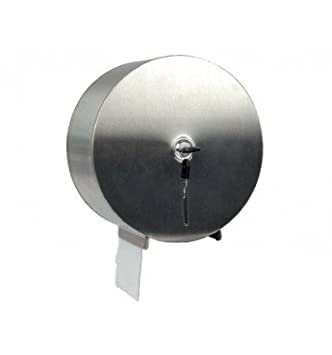 Q-Connect 75183 – Dispensador Papel Higiénico acero inoxidable cierre cerradura 2 llaves 115 x