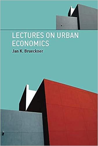 Lectures on Urban Economics (The MIT Press): Jan K  Brueckner
