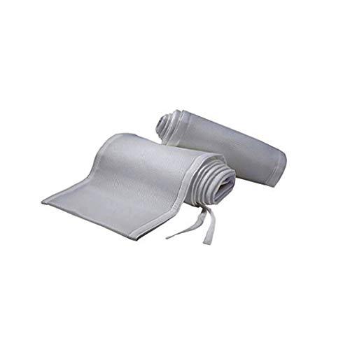 - Dergo ☀Crib Bumper Breathable Crib Bumper Grey Mesh Crib Bumper for Full-Size Crib Breathable Mesh (A)