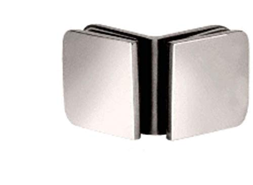 C.R. LAURENCE R0M91PN CRL Polished Nickel Roman Series 90 Degree Glass-to-Glass Clamp ()