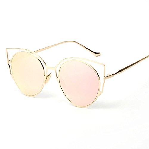 Spectacles Uv Rétro Soleil Femme Goggles Vintage Rond Lunettes Protection De Rose Magideal qBXRq