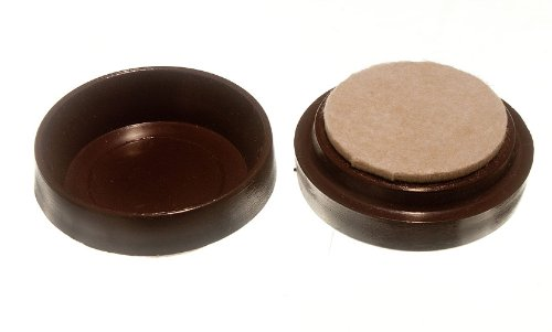 Lot Of 200 Castor Cups Furniture Floor Protector Glides Brown + Felt Pad 60Mm