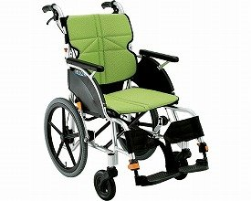 [車椅子]ネクストコア 介助用車いす NEXT-21B 座幅40cm F-3 ライトグリーン B00H7Y1U9C  F3 ライトグリーン