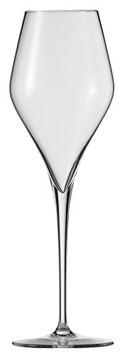 Schott Zwiesel Tritan Crystal Glass Finesse Stemware Collection Champagne Flute with Effervescence Points (Set of 6), 10.0 oz, Clear ()