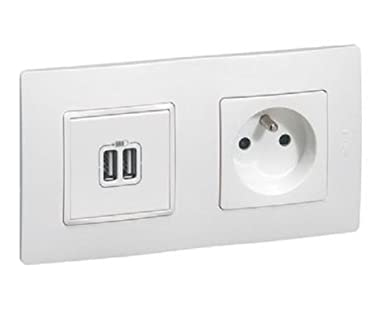 Legrand Niloe LEG200359 - Enchufe doble para cargador USB y ...