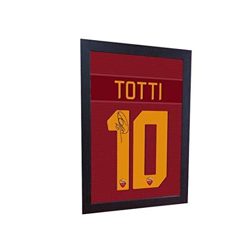 (S&E DESING Francesco Totti Roma t Shirt Signed Printed on Canvas 100% Cotton)