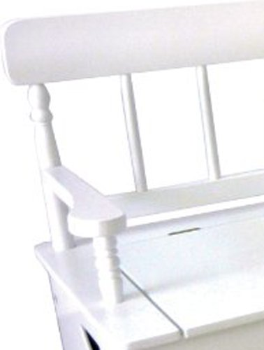 White Toy Box Bench