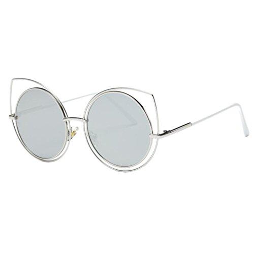 d55a39236b842f Lunettes de Soleil Ansenesna Unisex Chat Couleur des yeux Frame Film UV400  protection Lunettes de soleil