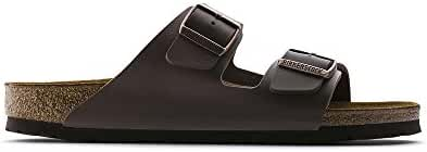 Birkenstock Arizona DARK BROWN Birko-Flor Sandal - EU Size 40 / Women's US Size 9-9.5, Men's US Size 7-7.5
